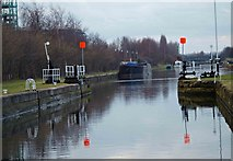 SE4326 : Bulholme Lock on the Castleford cut by Steve  Fareham