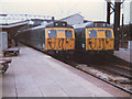 SJ7154 : Twin electric units at Crewe by Stephen Craven