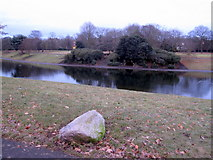SJ3787 : Sefton Park - the boating lake by John S Turner