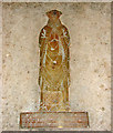 TL9785 : The church of All Saints - C15 figure brass by Evelyn Simak