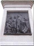 SJ3787 : Sefton Park - SW plaque on Rathbone statue by John S Turner