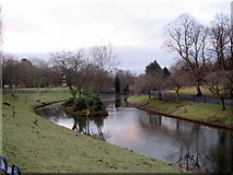 SJ3787 : Sefton Park - small lake and island by John S Turner