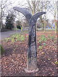 SJ3787 : Sefton Park - National Cycle Way Marker by John S Turner