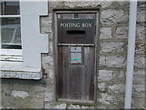 SC2667 : Wooden fronted postbox Castletown by Richard Hoare