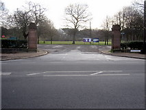 SJ3787 : Sefton Park - entrance and car park off Aigburth Drive by John S Turner