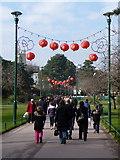 SZ0891 : Bournemouth Gardens: Chinese lanterns by Chris Downer