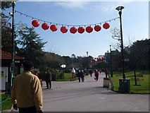 SZ0891 : Bournemouth: entering the Lower Gardens from The Square by Chris Downer
