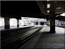 SP0786 : View out of New Street station, from platform 8a by Christine Johnstone