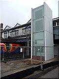 TQ2775 : New lift, Platform 7, Clapham Junction station by Christine Johnstone