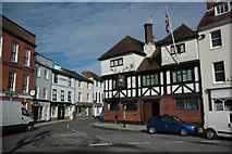 SU3521 : Buildings on Market Place, Romsey by Philip Halling