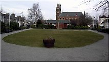 NX4355 : Wigtown market square gardens. by Colin Kinnear