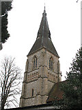 TQ3355 : Spire of St Mary's church, Caterham by Stephen Craven