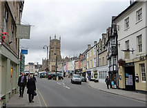 SP0202 : Market Place, Cirencester by Chris Gunns