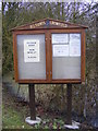 TM1457 : All Saints Church Notice Board, Crowfield by Adrian Cable