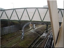 SU4212 : Footbridge to St Mary's Stadium by Stanley Howe
