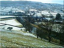 SE0361 : Burnsall, the River Wharfe and Thorpe Fell by Matthew Hatton