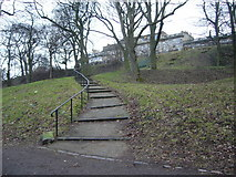 NT2674 : Connecting path in London Road Gardens by kim traynor
