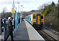 ST2689 : Ebbw Vale train about to depart from Rogerstone railway station by Jaggery