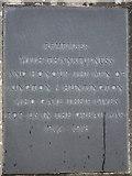 SO2956 : Kington war memorial - plaque 1 by Bob Embleton