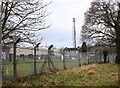 SP3366 : Water treatment works and mobile phone mast by David P Howard