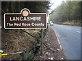SD7016 : Traffic Sign - Lancashire by Chris Pearson