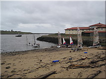 NZ3668 : Small Beach near the Mouth of the River Tyne by Les Hull