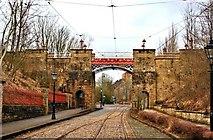 SK3455 : Bowes-Lyon Bridge, Crich Tramway museum by Paul Buckingham