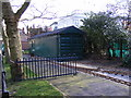 TQ4484 : Miniature Railway Engine Shed, Barking Park by Adrian Cable