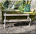 SJ9694 : Godley Hill Bench by Gerald England