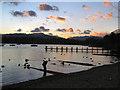 NY3703 : Windermere shore at Waterhead by David Dixon