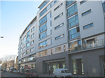 TQ3279 : Empire Square: buildings facing Long Lane by Stephen Craven