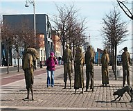 O1634 : The Famine Memorial on Custom House Quay by Eric Jones