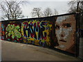 TQ2990 : Graffiti wall, Alexandra Park skatepark, North London by Julian Osley