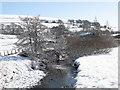 NY8448 : The River East Allen south of Spartylea Bridge in the snow by Mike Quinn