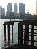 TQ3880 : Jetty by the Millennium Dome by Malc McDonald