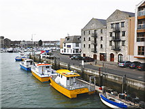 SY6778 : Inner harbour, from the Town Bridge, Weymouth by Roger Cornfoot