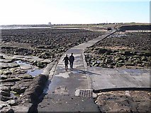 NZ3575 : Causeway from St Mary's Island by Oliver Dixon