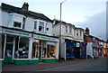 TQ5839 : Charity shop and Restaurant, Camden Rd by N Chadwick