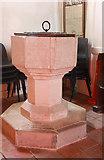 TR1148 : St Bartholomew, Waltham, Kent - Font by John Salmon