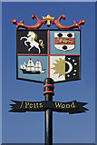 TQ4467 : Petts Wood village sign by Ian Capper