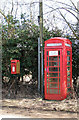 TF6607 : K6 telephone box and postbox in West Road by Evelyn Simak