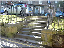 NT2572 : Steps in Roseneath Place, Marchmont by kim traynor