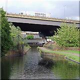 SP0990 : Aqueduct, and motorway across Salford Junction, Birmingham by Roger  Kidd