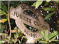 SY9695 : Corfe Mullen: detail of Jubilee Cross signpost by Chris Downer