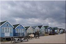 SZ1891 : Beach huts at Hengistbury head by Pam Goodey