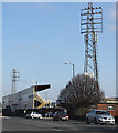 SO5040 : Floodlights at Edgar Street by Pauline E