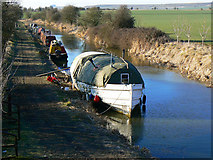 SU0762 : Canal boats on the Kennet and Avon canal, All Cannings Bridge by Brian Robert Marshall