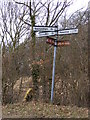 TM3467 : Roadsign on Bruisyard Road by Adrian Cable