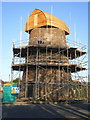 SJ9240 : Restoration work underway on the Meir Heath windmill by Richard Law