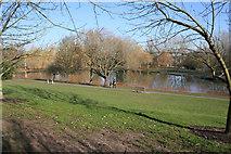 SU9850 : Lake, Surrey University campus by Kate Jewell